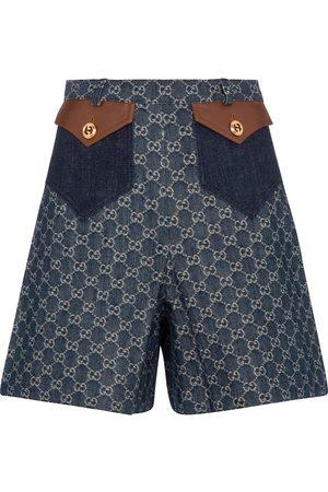 Gucci Jeansshorts mit GG Jacquard
