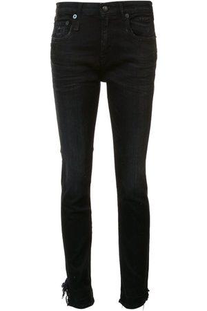 R13 Damen Skinny - Stratford' raw hem jeans