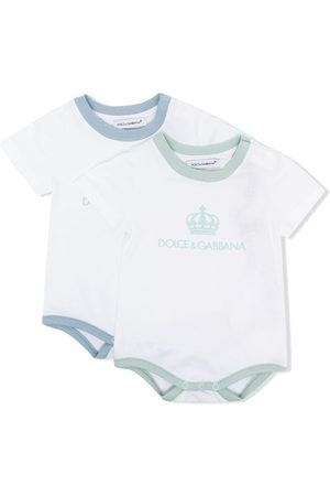 Dolce & Gabbana Two-pack logo-print babygrows