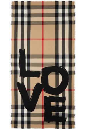 Burberry Love-print Vintage Check scarf