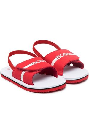 HUGO BOSS Logo touch-strap sandals