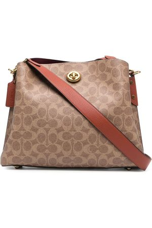 Coach Monogram leather shoulder bag