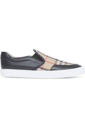 Burberry Damen Sneakers - Check-print slip-on sneakers