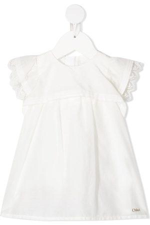 Chloé Baby Kurze Hosen - Lace-trimmed short-sleeved dress
