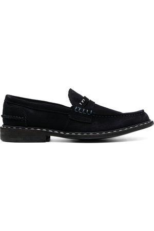 Premiata Herren Halbschuhe - Contrast-stitching suede loafers