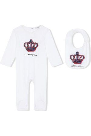 Dolce & Gabbana DG Crown-print babygrow set