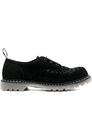 Premiata Interwoven-detail leather lace-up shoes