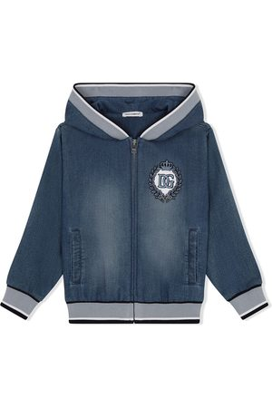 Dolce & Gabbana Jungen Jeansjacken - Crest-embroidered jacket