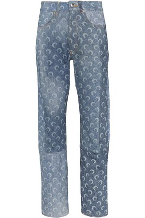 Marine Serre Moon print straight-leg jeans