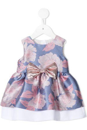 HUCKLEBONES LONDON Mädchen Ärmellose Kleider - Bow-detail sleeveless dress