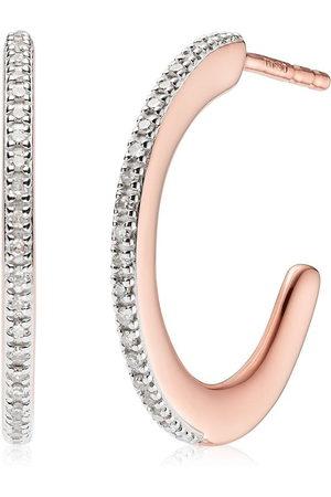 Monica Vinader Fiji Skinny Hoop Diamond earrings