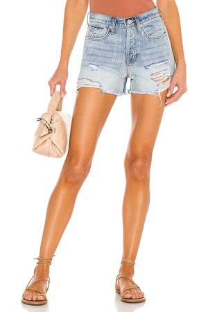 7 for all Mankind Damen Shorts - Monroe Cut Off Short in - Blue. Size 23 (also in 24, 25, 26, 27, 28, 29, 30, 31, 32).