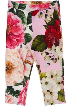 Dolce & Gabbana Damen Leggings & Treggings - Leggings Aus Baumwollinterlock Mit Druck
