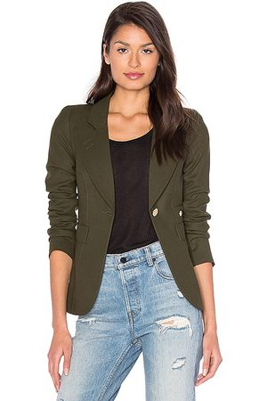 SMYTHE Damen Blazer & Sakkos - Classic Duchess Blazer in - Green. Size 10 (also in 2, 4, 6, 8).