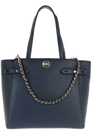 Michael Kors Tote Bags Large Belted Tote Leather - in blau - Henkeltasche für Damen