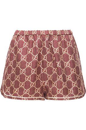 Gucci Shorts Aus Seidentwill Mit Logodruck