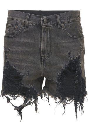 R13 Shorts Aus Baumwolldenim Mit Rissen