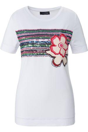 Looxent Damen Shirts - Rundhals-Shirt 1/2-Arm weiss