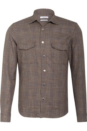 Reiss Herren Freizeit - Hemd Peaky Regular Fit braun