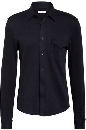 Reiss Herren Freizeit - Jerseyhemd Scott Slim Fit blau