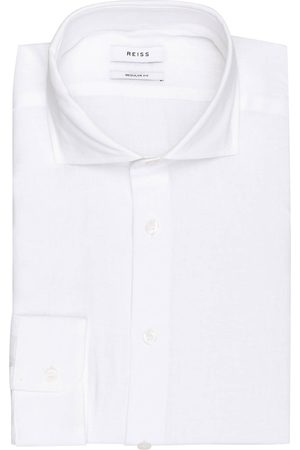Reiss Leinenhemd Ruban Regular Fit weiss