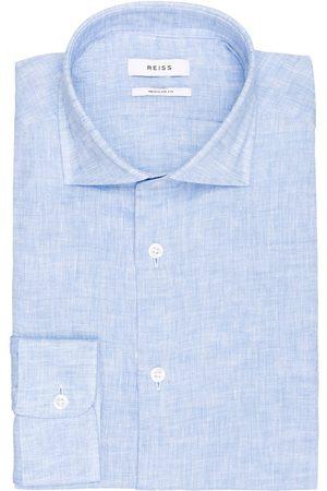 Reiss Leinenhemd Ruban Regular Fit blau