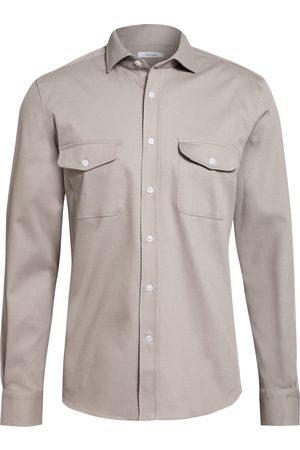 Reiss Overshirt Pricey grau