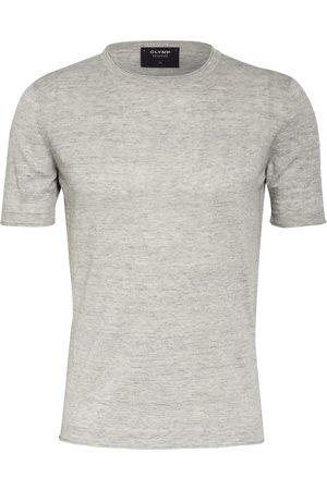 Olymp Herren Shirts - T-Shirt Mit Leinen