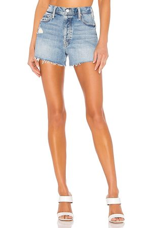 Mother The Tomcat Kick Fray Short in - Blue. Size 23 (also in 24, 25, 26, 27, 28, 29, 30, 31).