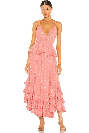 ROCOCO SAND Aria Maxi Dress in - Pink. Size L (also in S, XS, M).