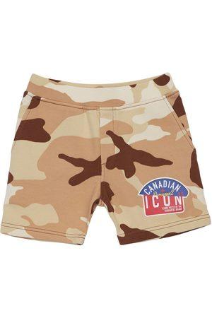 Dsquared2 Herren Shorts - Trainingsshorts Aus Baumwolle In Tarnfarben