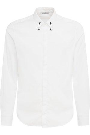 Neil Barrett Bedrucktes Popeline-hemd Mit Kragen