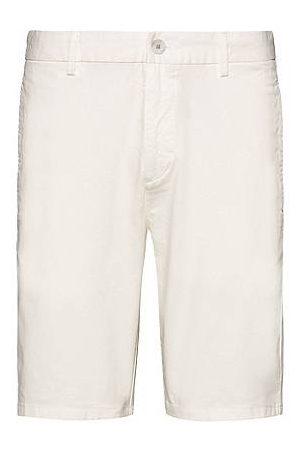 HUGO BOSS Slim-Fit Shorts aus elastischer Baumwoll-Gabardine
