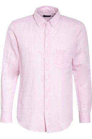 STROKESMAN'S Herren Freizeit - Hemd Regular Fit Mit Leinen rosa