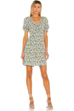 FAITHFULL THE BRAND Palma Mini Dress in - Blue. Size L (also in XS, S, M, XL).