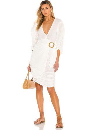 Jen's Pirate Booty Hillview Midi Dress in - White. Size L (also in S, XS, M).