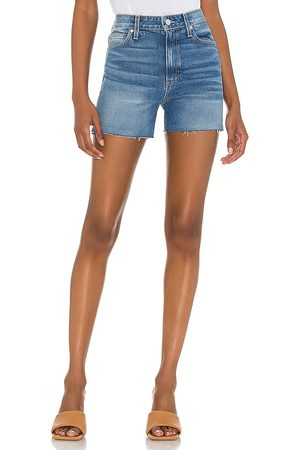 LE JEAN Damen High Waisted - High Rise Lexi 4 Short in - Denim-Medium. Size 23 (also in 24, 25, 26, 27, 28, 29, 30, 31).