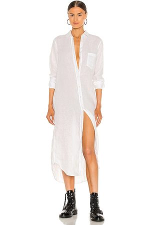 FRANK & EILEEN Rory Woven Long Dress in - White. Size L (also in S, XS, M).