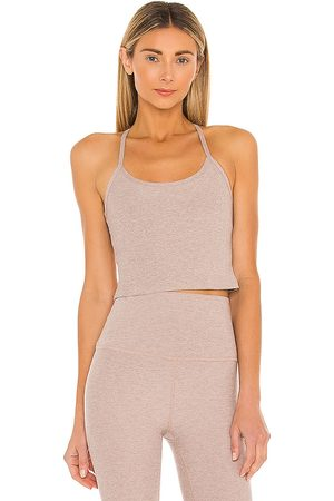 Beyond Yoga Spacedye Slim Racerback Tank in - Taupe. Size L (also in S, XS, M).