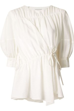 GOEN.J Damen Blusen - Multi-directional ruched blouse