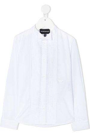 Emporio Armani Jungen Lange Ärmel - Long sleeve pleated bib shirt