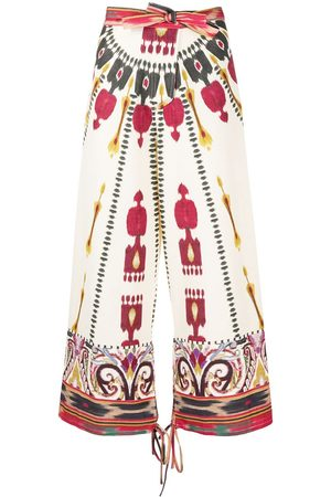 Etro Damen Jumpsuits - All-over print trousers
