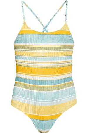 Seafolly Damen Badeanzüge - Badeanzug Spring Blossom Zum Wenden blau