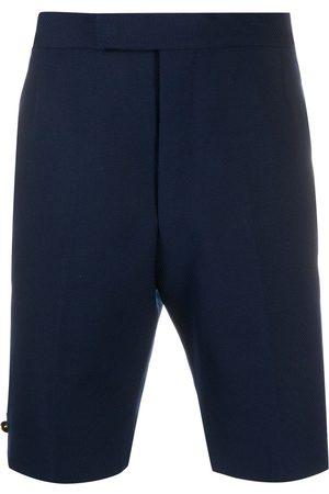 Thom Browne Hopsack weave backstrap shorts