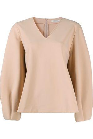 Nina Ricci Damen Blusen - Flared v-neck blouse