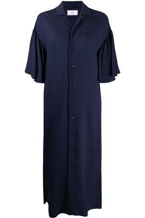 Ami Damen Midikleider - Ruffle-sleeve midi dress