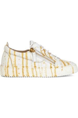 Giuseppe Zanotti Paint-splatter leather sneakers