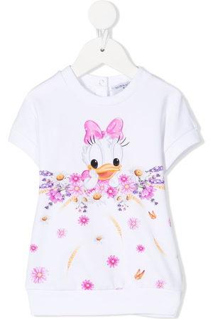 MONNALISA Baby Shirts - Daisy Duck sweatshirt dress