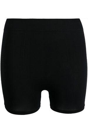 Rick Owens Ribbed-knit high-waist shorts