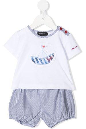MONNALISA Graphic-print cotton shorts set